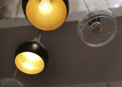 Lampe - Hängeleuchte - Designerlampe - Gold - Schwarz