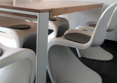 Möbeltante - Esstisch - Modern - Metallgestell- weiß
