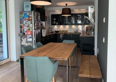 Möbeltante - Tisch - Massivholz - Metall - Eiche - Skandinavian Design - Bank