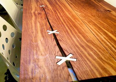 Möbeltante - Tisch - Tischplatte - Metall - Materialmix